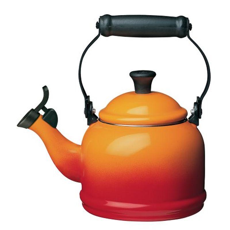 ルクルーゼ デミ 笛吹きケトル やかん フレーム オレンジ 1.1L Le Creuset Enamel-on-Steel Demi 1-1/4-Quart Teakettle Flame Orange Q9401-2