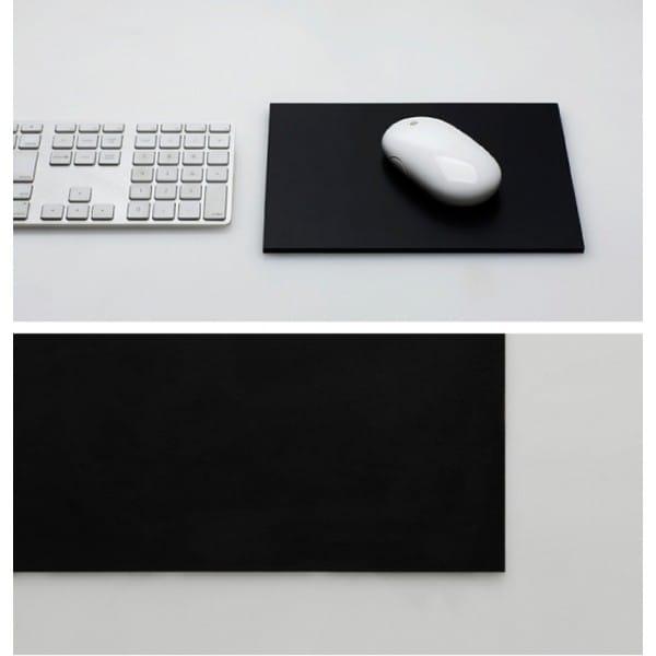 新作続 全品送料無料 30日間返金保証 100% レザーマウスパッド ブラック