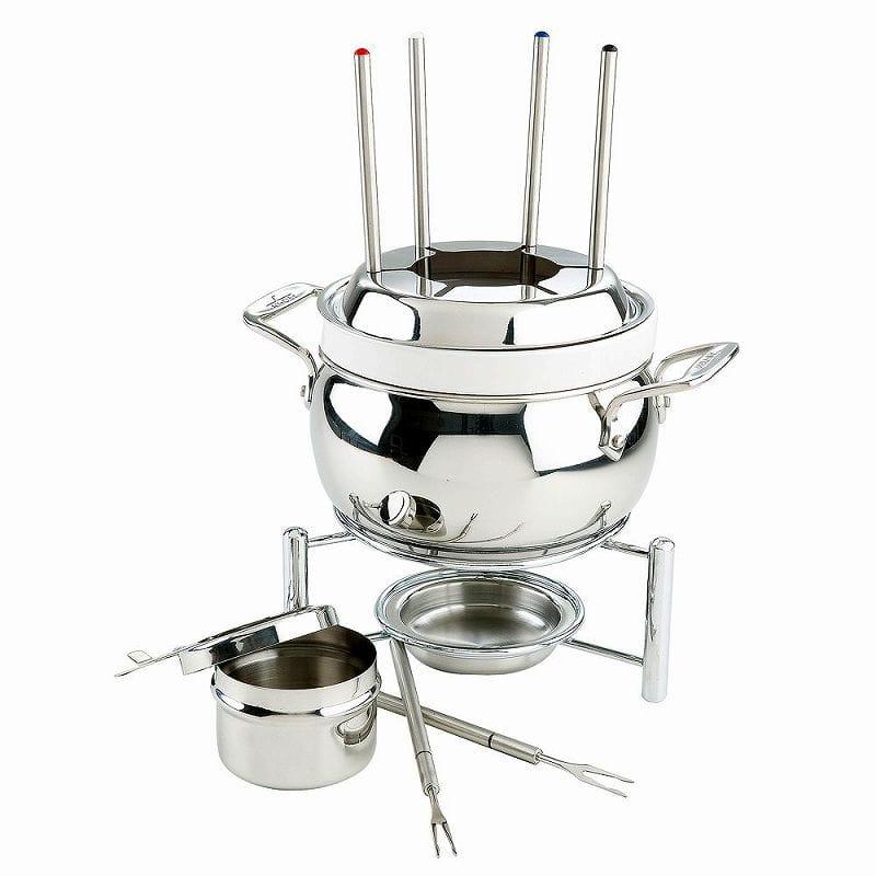 オールクラッド ステンレス チョコレート チョコレート 59936 オイル チーズフォンデュセット Fondue All-Clad Stainless Fondue Pot with forks 59936, エスクリエイト:8cf37eb4 --- sunward.msk.ru