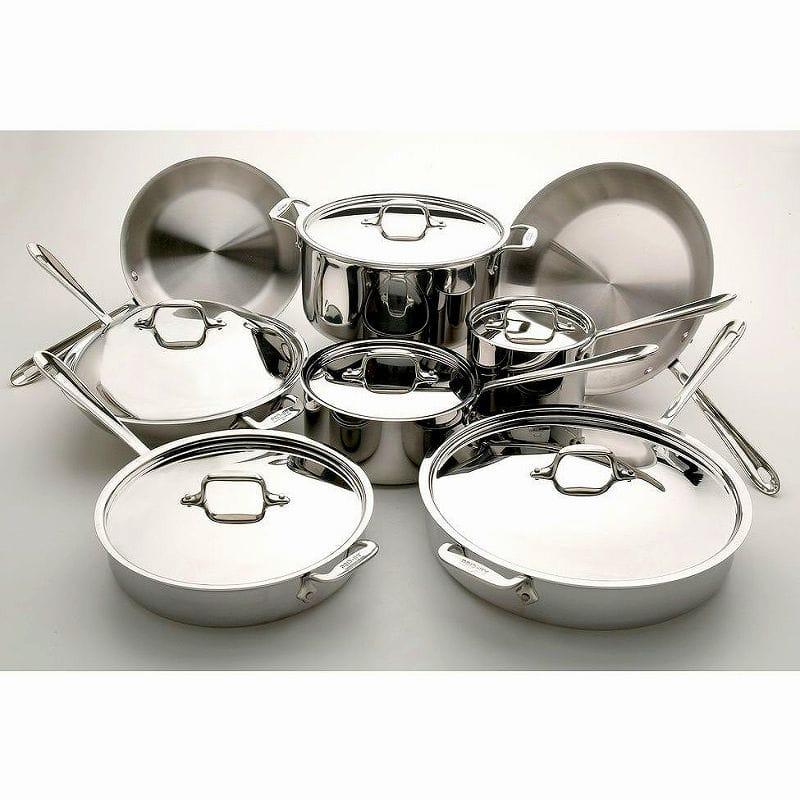 オールクラッド ステンレス フライパン 鍋 14点セット All-Clad Stainless 14-Piece Cookware Set 501716