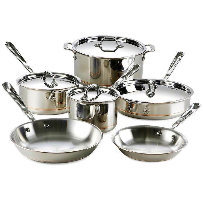 オールクラッド 銅 コッパー フライパン 鍋 10点セット All-Clad Copper Core 10-Piece Cookware Set 600822SS