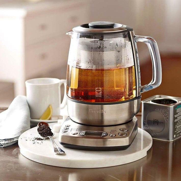 ブレビル ワンタッチティーメーカー ガラス電気ケトル ティーケトル 温度計付 温度調節可能 茶こし付 ティーストレーナー 電気ポットThe Breville One-Touch Tea Maker BTM800XL 家電