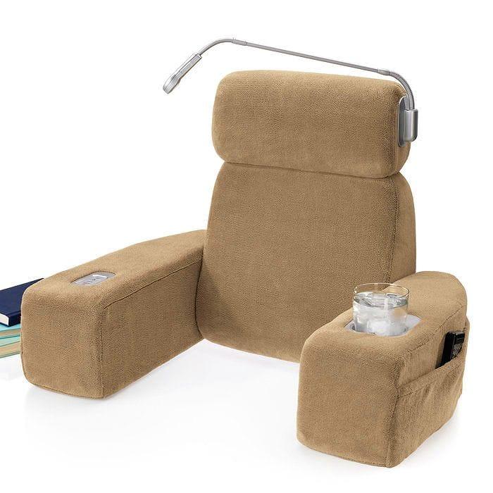 ベットの上用マッサージ機能付チェアー ライト付 背もたれ nap Massaging Bed Rest