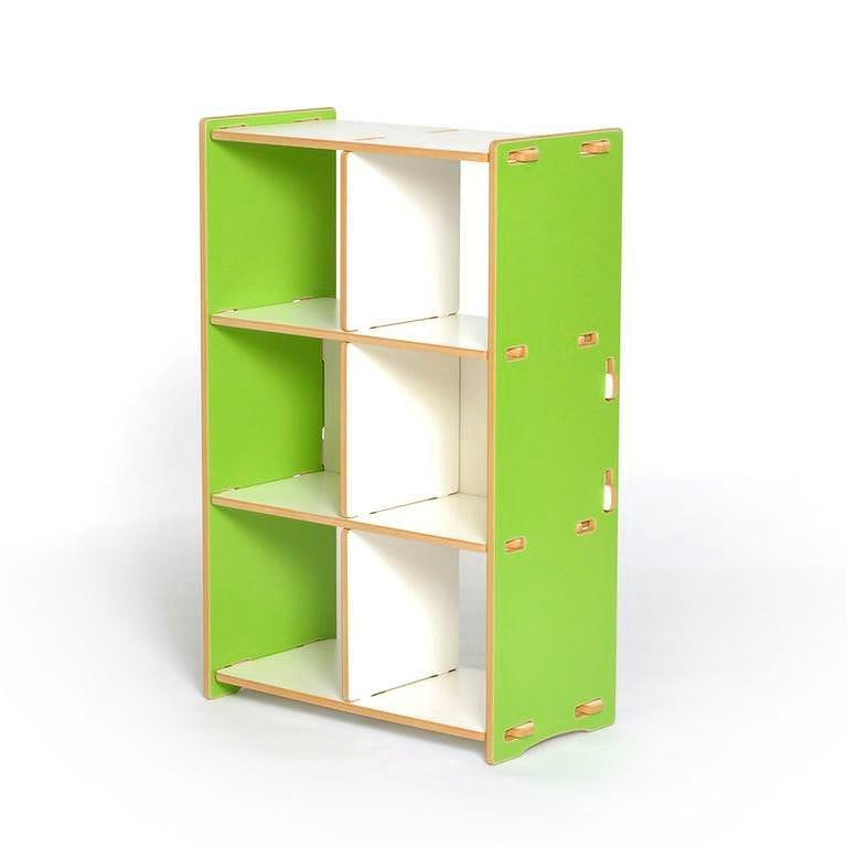 子供用棚 トイラック キッズオーガナイザー ストレージ スプラウト グリーン6 Cubby Organizer Sprout