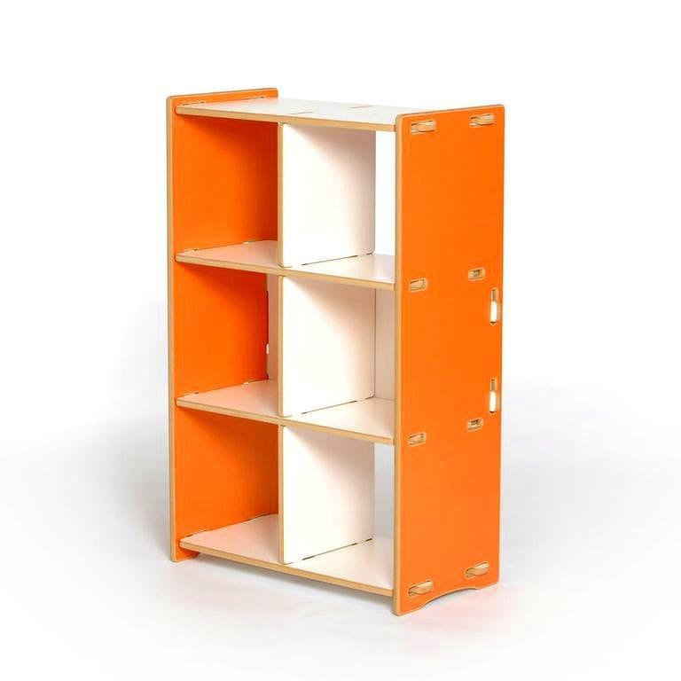 子供用棚 トイラック キッズオーガナイザー ストレージ スプラウト オレンジ 6 Cubby Organizer Sprout