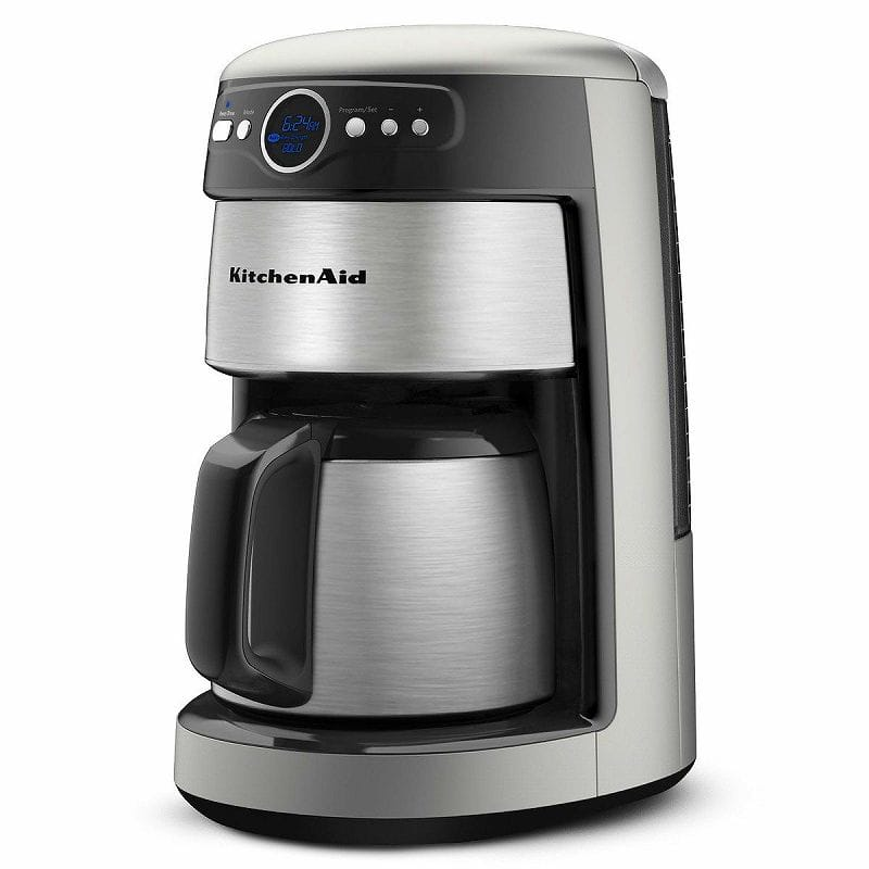 Kitchen aid coffee maker silver KitchenAid 12-Cup Thermal Carafe Coffee  Maker KCM223CU household appliance