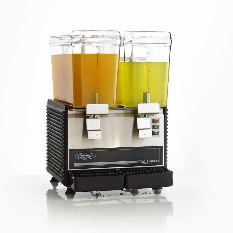 ドリンクサーバー オメガ ドリンク ディスペンサー 11L 2つ付 ホテル Omega OSD20 Commercial 1/3-Horsepower Drink Dispenser with 2 3-Gallon Containers 家電