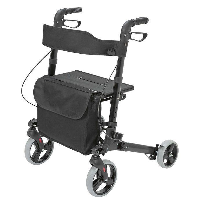 ヘルススマート 折りたたみ式 歩行器 ブラックHealthSmart Folding Gateway Rollator Walker Black