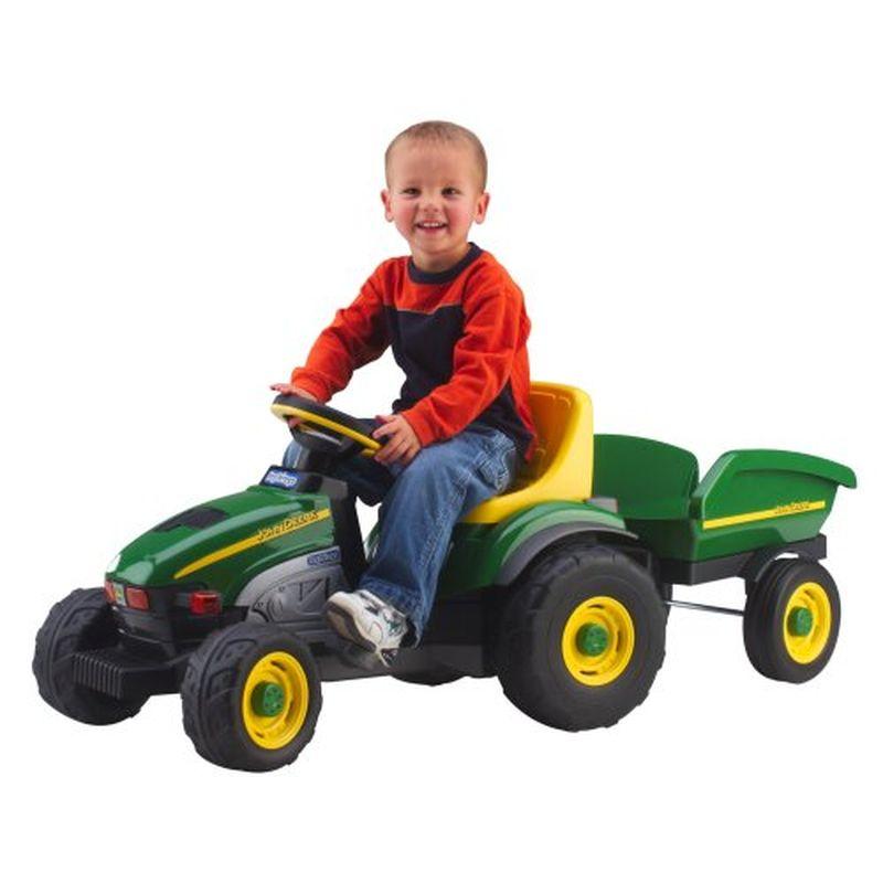 ペグペレーゴ ファーム トラクター & トレーラー おもちゃ 自動車 Peg Perego John Deere Farm Tractor & Trailer IGCD0522