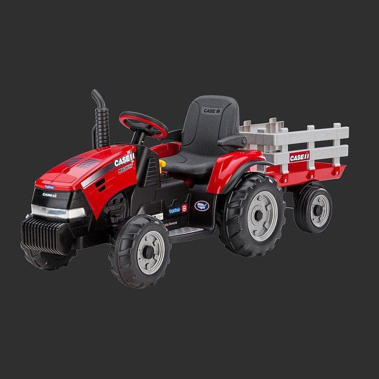 【組立要】ペグペレーゴ マグナム トラクター/トレーラー 子供用電気自動車 12V 電動カー Peg Perego Case IH Magnum Tractor/Trailer IGOR0055 電動カー