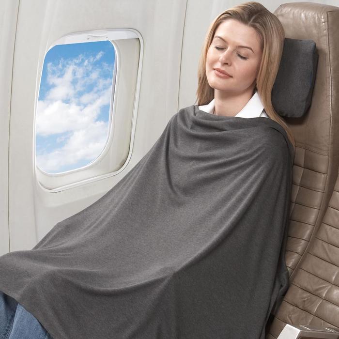 トラベル コンフォート セット グレー Travel Comfort Set Grey 旅行などに快適ブランケット 枕 膝掛け