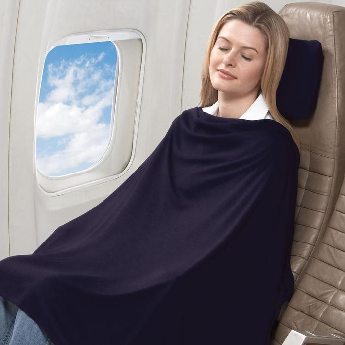 トラベル コンフォート セット ブラック Travel Comfort Set Midnight 旅行などに快適ブランケット 枕 膝掛け