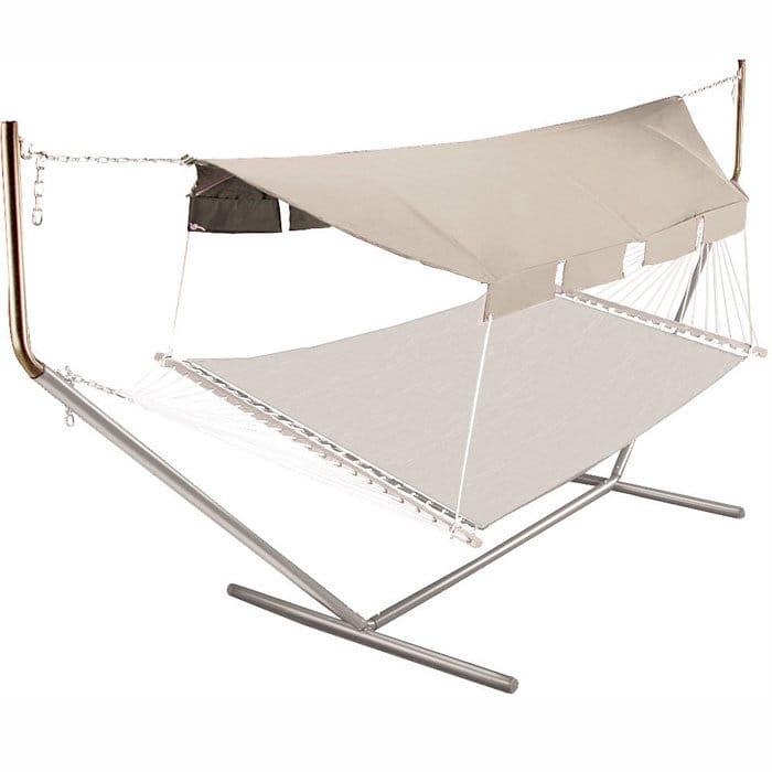 屋根付 ハンモック ブラウン ポールHammock Canopy Natural Canopy/Taupe Poles