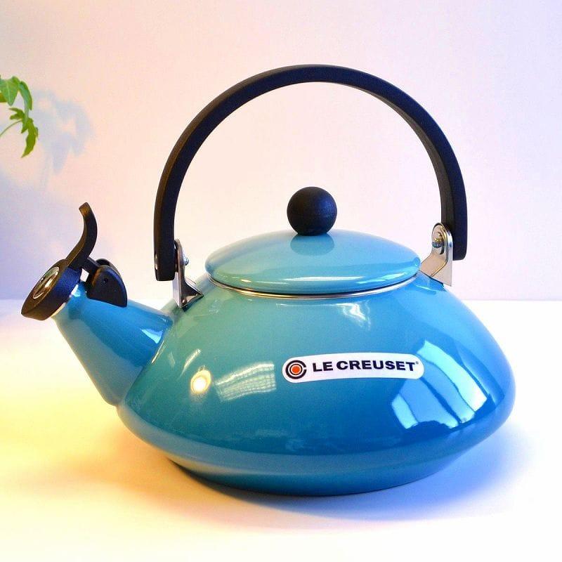 ルクルーゼ ゼン 笛吹きケトル やかん カリビアン ブルー 青 1.5L IH対応 Le Creuset Zen Enamel-On-Steel Kettle, Caribbean
