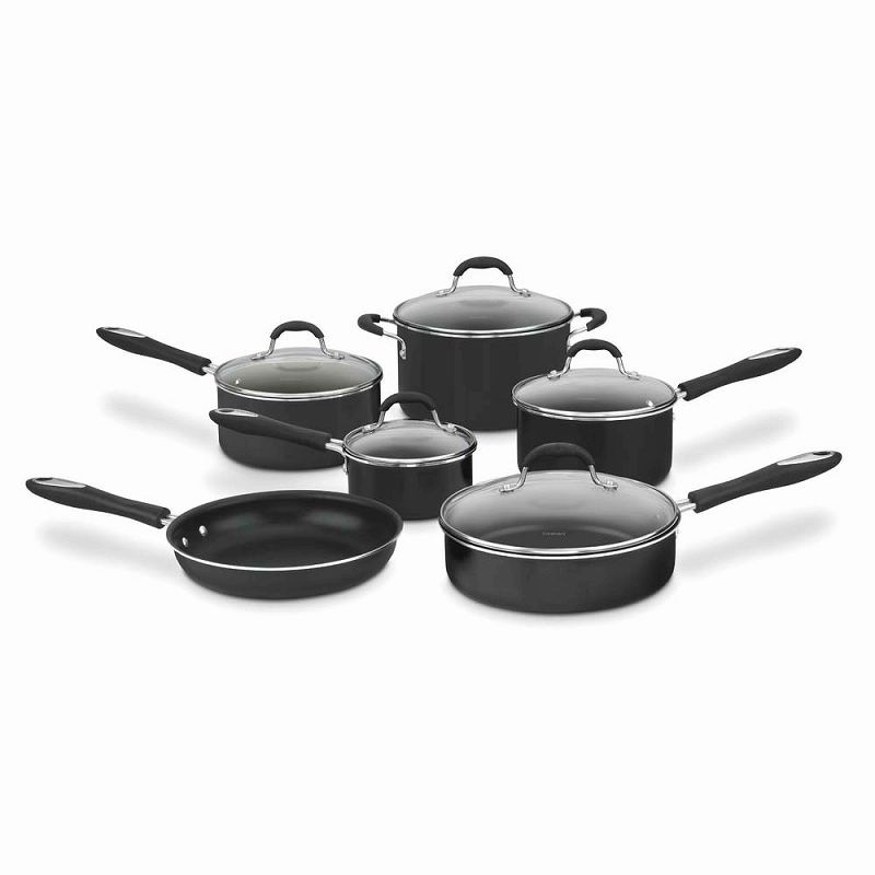 クイジナート 鍋11点セット 黒Cuisinart 55-11 Advantage Non-Stick 11-Piece Cookware Set Black
