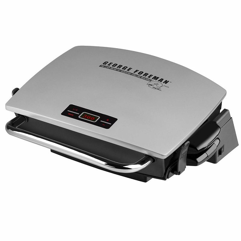 ジョージフォアマン 電気グリル ホットプレートGeorge Foreman GR0072P G-Broil Supreme Electric Nonstick Countertop Grill with Digital Timer Silver 家電