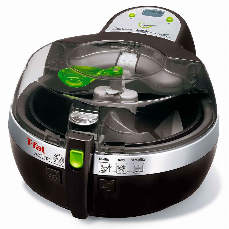 T-FAL ティファール 揚げ物 フライヤー アクティフライ 黒 T-fal Actifry Low-Fat Multi-Cooker Black 家電