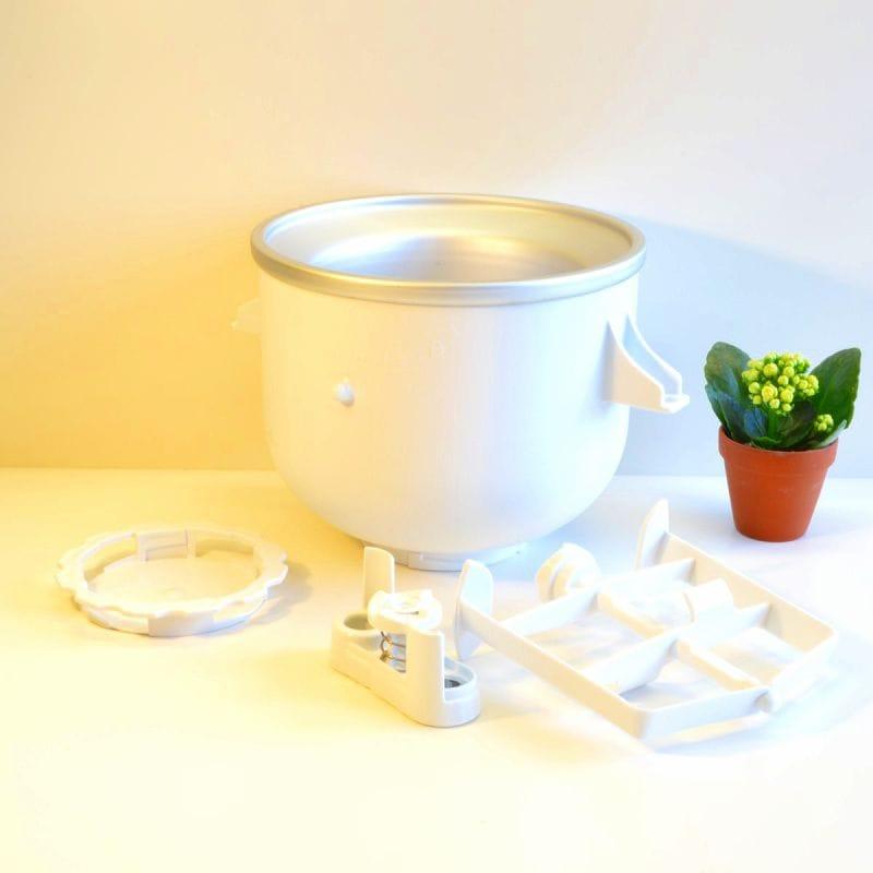 キッチンエイド スタンドミキサー用 アイスクリームメーカー アタッチメントKitchenAid KICA0WH Ice Cream Maker Attachment