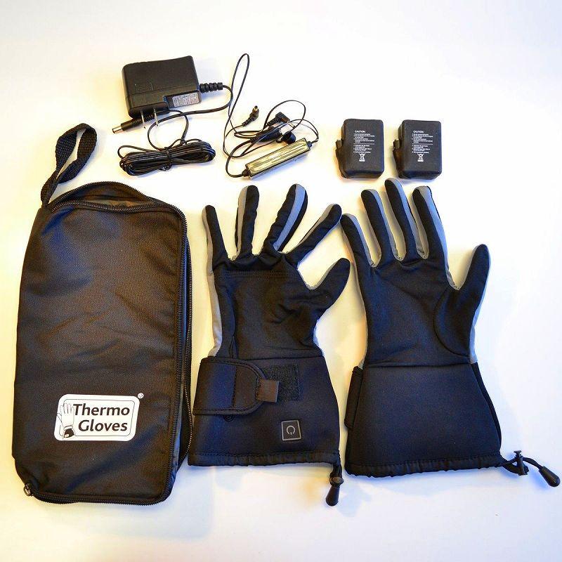 冬の自転車バイクの指が寒い!電気で暖める手袋 ヒーターグローブ 充電式ウオーマー ぬくぬくコードレス電気手袋 L Thermo Wireless rechargeable heated glove liners with keypad temperature control