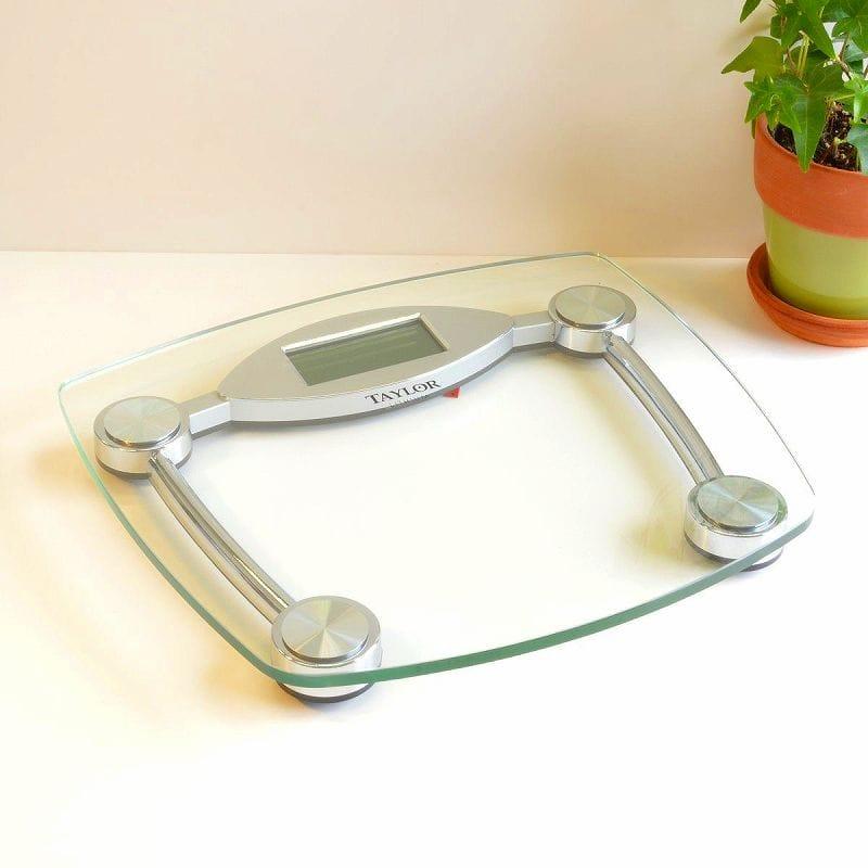 テイラー 体重計 ガラス&クロムデジタルスケール バススケールTaylor Glass and Chrome Digital Scale 7506