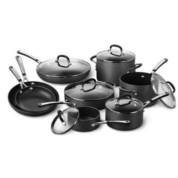 カルファロン ノンスティック フライパン 鍋 14点セット Simply Calphalon Nonstick Hard-Anodized 14-Piece Cookware Set SA14H