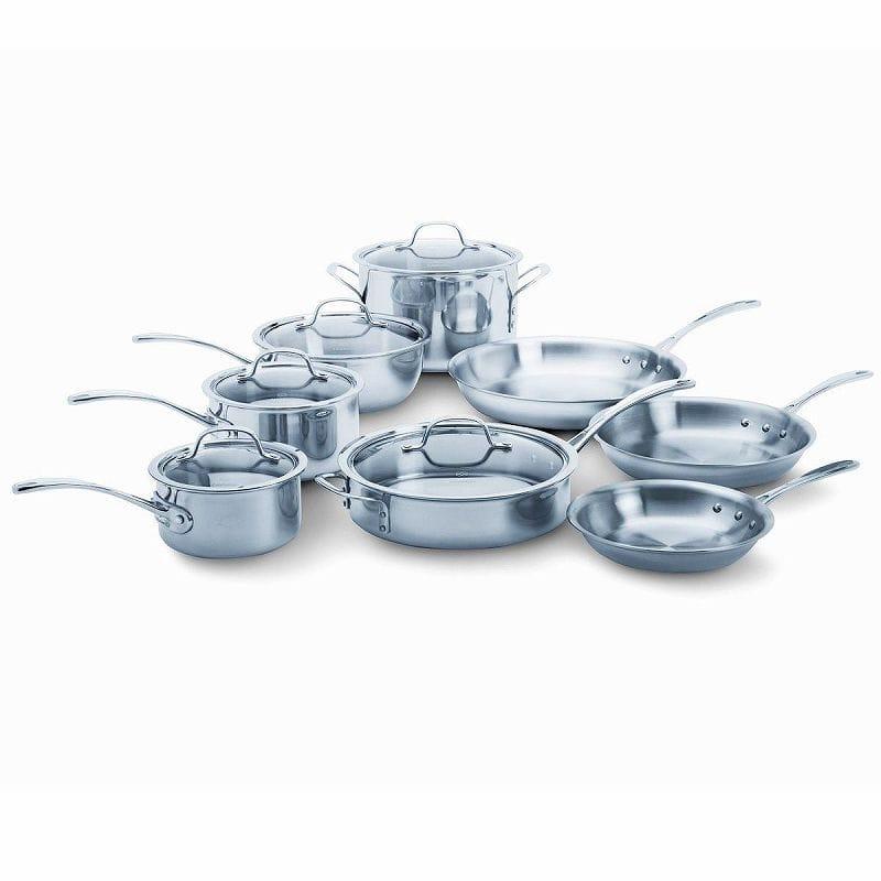 カルファロン クックウェア 13点セットCalphalon Tri-Ply Stainless Steel 13-Piece Cookware Set 1767951