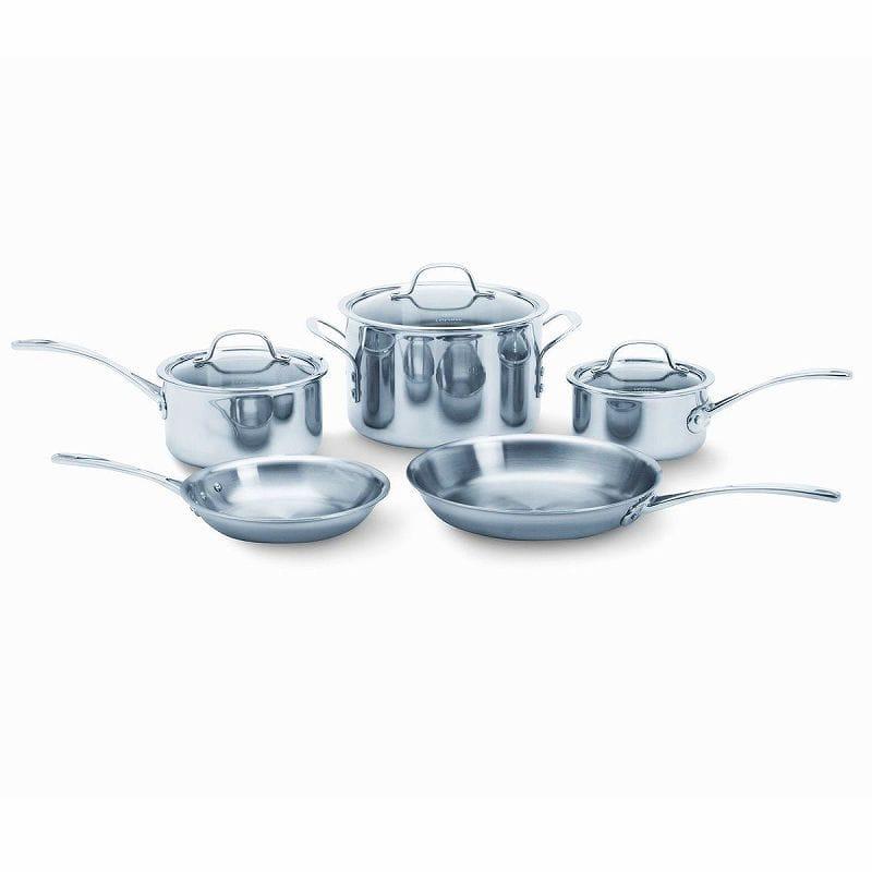 カルファロン クックウェア 8点セットCalphalon Tri-Ply Stainless Steel 8-Piece Cookware Set 1767952