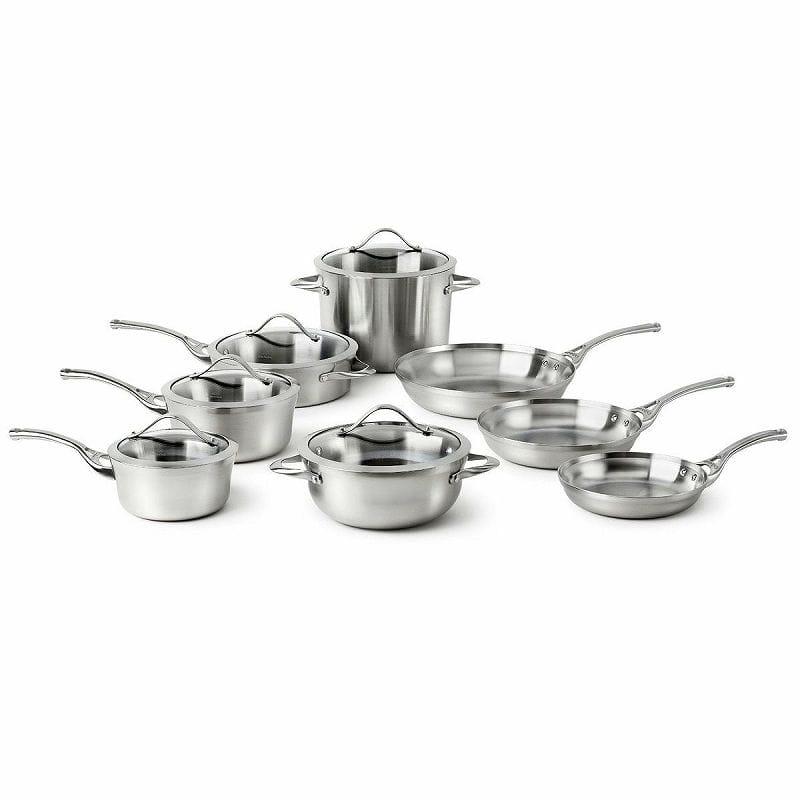カルファロン クックウェア 鍋 13点セット Calphalon Contemporary Stainless 13-Piece Cookware Set LR13A