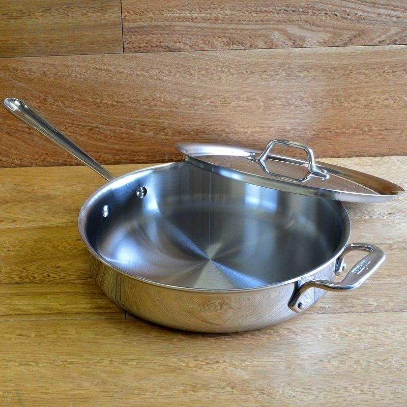 オールクラッド ステンレス 3L ソテーパン IH使用可能 All Clad Stainless Steel Saute Pan with Lid 3-Quart 4403