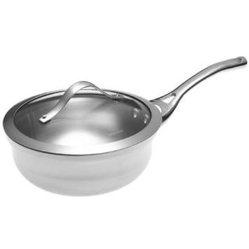 カルファロン シェフズパン フタ付 1.9L Calphalon Contemporary Stainless-Steel 2-Quart Chef's Pan with Glass Lid LR142P