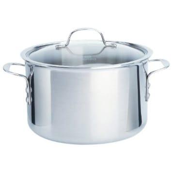 カルファロン 7.6L ストックポット 寸胴鍋Calphalon Tri-Ply Stainless Steel 8-Quart Stock Pot with Cover 1767727