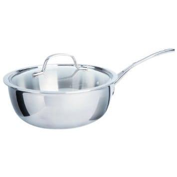 カルファロン 2.8L シェフズパン・フタ付片手鍋Calphalon Tri-Ply Stainless Steel 3-Quart Chef's Pan with Cover 1767724