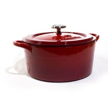 カルファロン ダッチオーブン レッド Calphalon Simply Cast Enamel 5 Qt Dutch Oven - Red 1820962
