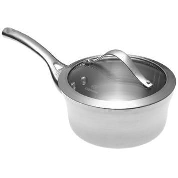 カルファロン 1.4L ソースパン・フタ付片手鍋 1.5QTCalphalon Contemporary Stainless 1-1/2-Quart Saucepan with Glass Lid LR8701-2