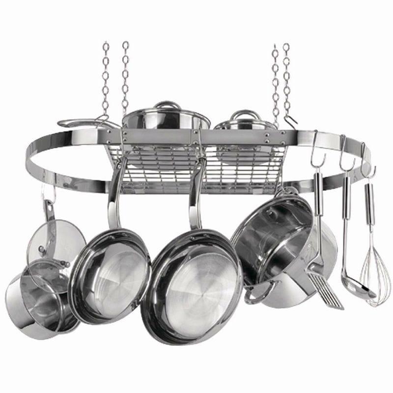 レンジクリーン ハンギングクックウエアラックRange Kleen Oval Pot Rack CW6001鍋掛け 鍋吊るし掛け収納 鍋置き ハンギングラック