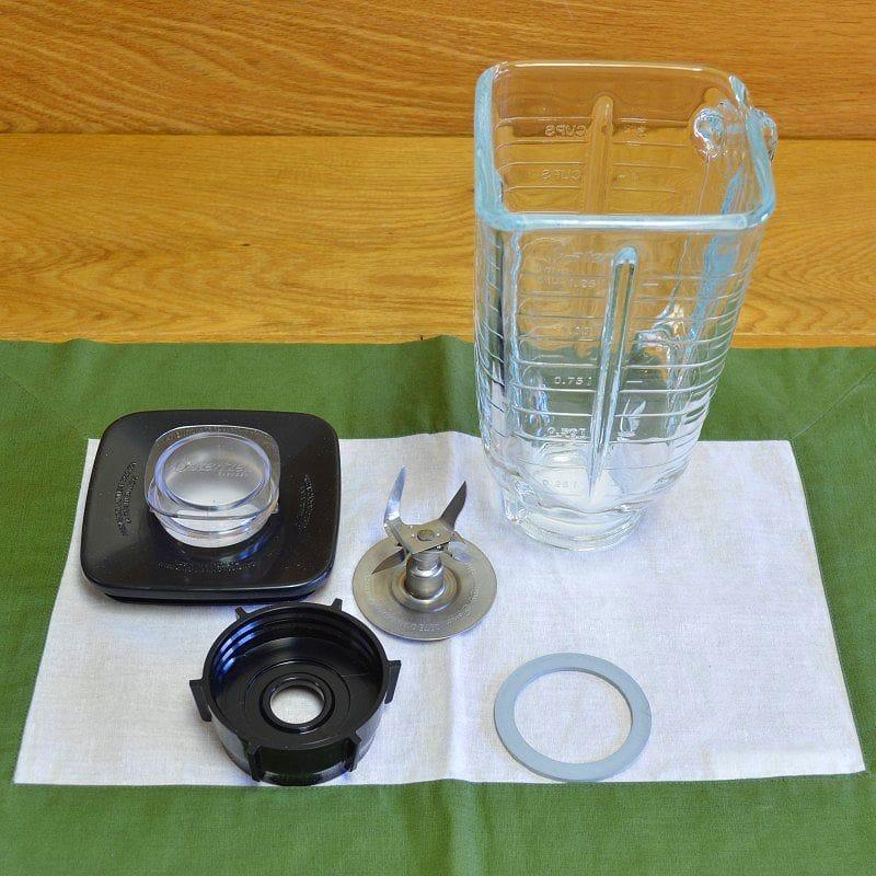 オスター オスタライザー ブレンダー ミキサー パーツ スクエア型 ガラスジャー トップラックセットOster Glass jar ass'y, complete (square top) glacomp