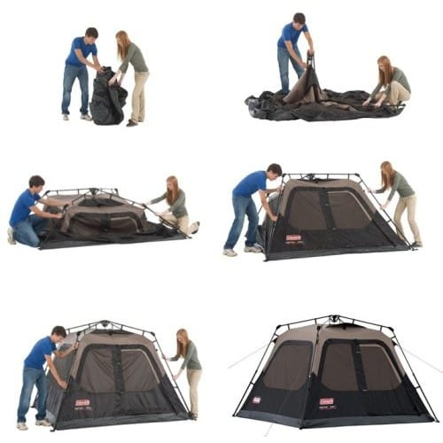 9d99a71ecd3 Coleman 4 person cleared for instant tent Assembly 3-5 minute Coleman 4-Person  Instant Tent 2000010387