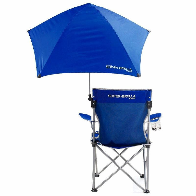 Parasol with folding chair Tan measures beach chair outdoor festival sports day camp Sun Protection Chair