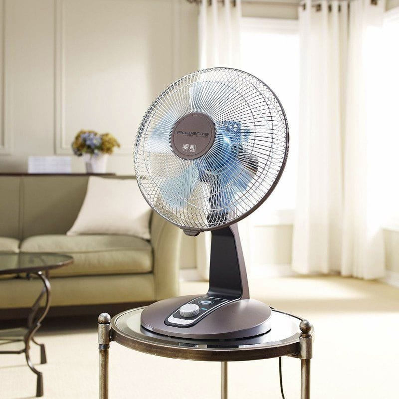 데스크 팬 직경 약 30cm 브론즈 VU2531 Rowenta VU2531 Turbo Silence 4-Speed Oscillating Desk Fan, 12-Inch, Bronze