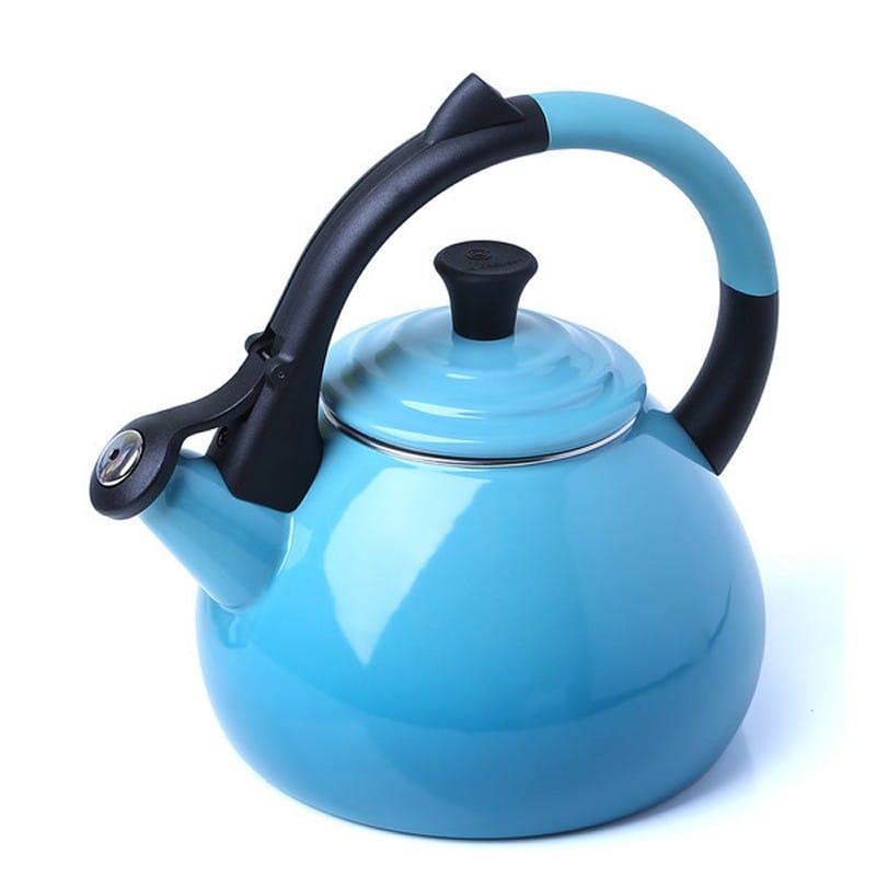 ルクルーゼ ウーロン 笛吹きケトル やかん カリビアン 水色 1.5L Le Creuset Enameled Steel 1.6 Quart Oolong Tea Kettle, Caribbean