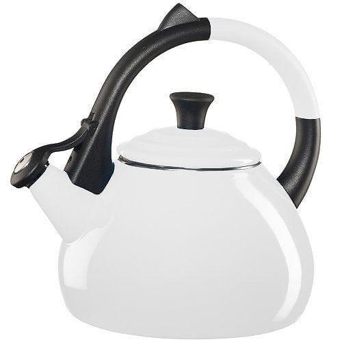 ルクルーゼ ウーロン 笛吹きケトル やかん ホワイト 白色 1.5L Le Creuset Enameled Steel 1.9 Quart Oolong Tea Kettle,White