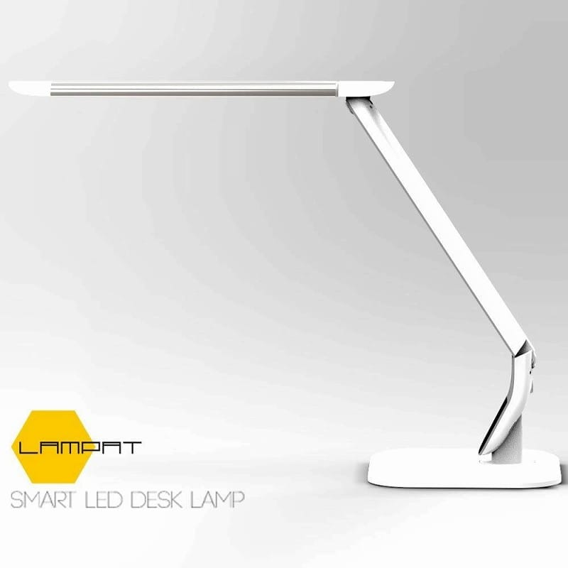 LED デスクランプ 目に優しい LEDランプLED Desk Lamp, LAMPAT LED Desk Lamp w/ Natural Light & Eye-protection 家電