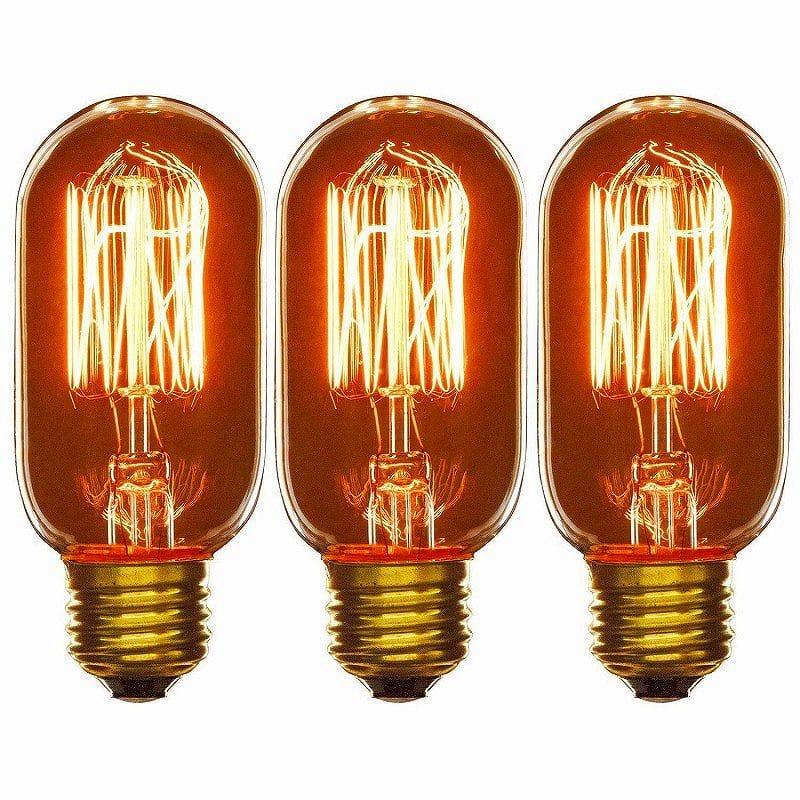 サンライト 25ワット アンティーク ラジオスタイル T14 電球 3本パック Sunlite 40T14/AQ/T/SM/3PK 120-volt 40-watt Medium Base Incandescent Antique Radio Style T14 Lamp, 3-Pack