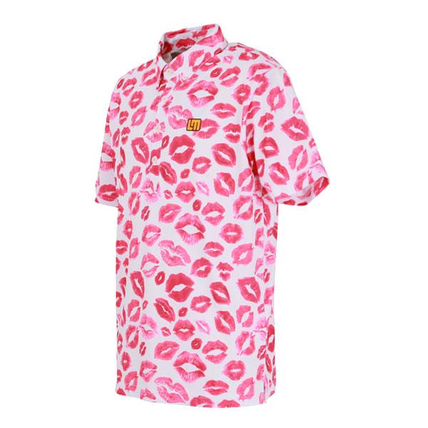 ラウドマウス メンズ ゴルフウェア 760605 半袖 ポロシャツ カラー:243 キシーズ(Kisses)