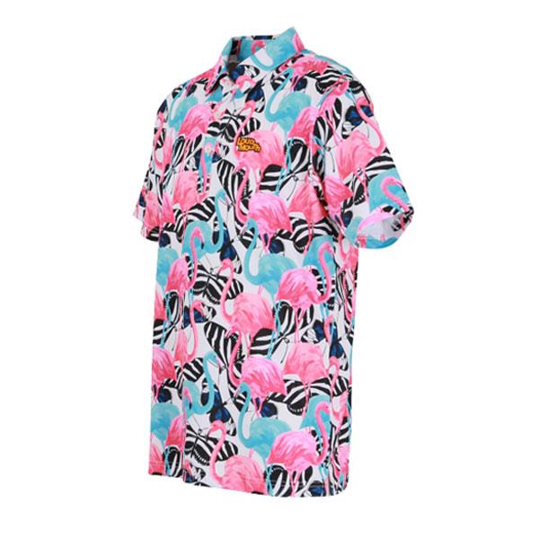 ラウドマウス メンズ ゴルフウェア 760609 半袖 ポロシャツ カラー:236 ブルーフラミンゴ(Blue Flamigos)