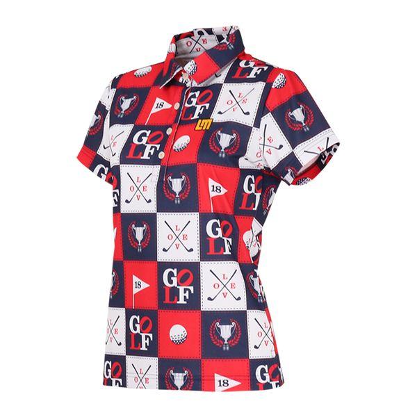 ラウドマウス レディースゴルフウェア 760656 半袖 ポロシャツ カラー:251 アイラブゴルフ(I Love Golf)