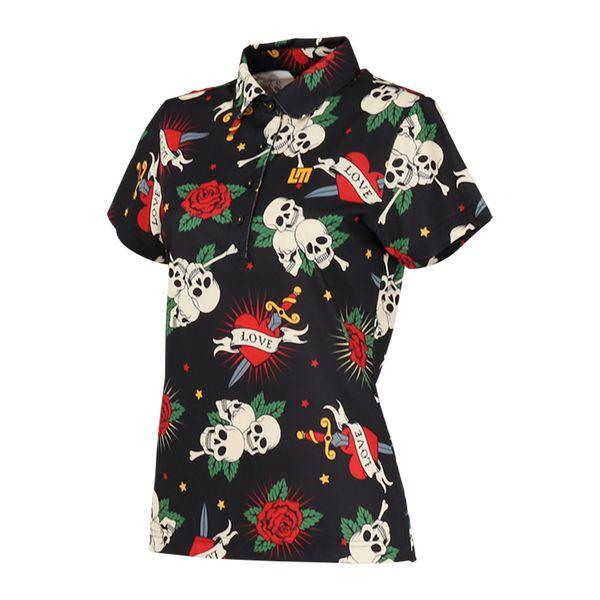 ラウドマウス レディースゴルフウェア 760658 半袖 ポロシャツ カラー:239 ダガーロージーズ(Daggers Roses