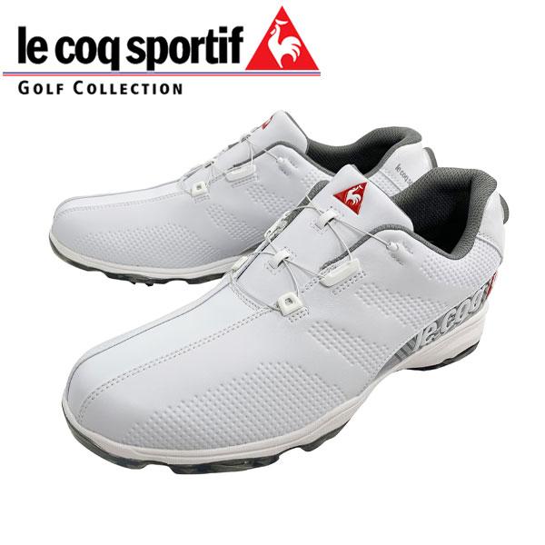 2019年 ルコック スポルティフ ソフトスパイク ゴルフ シューズ ヒールダイヤル式 QQ2NJA01 日本正規品 ホワイト