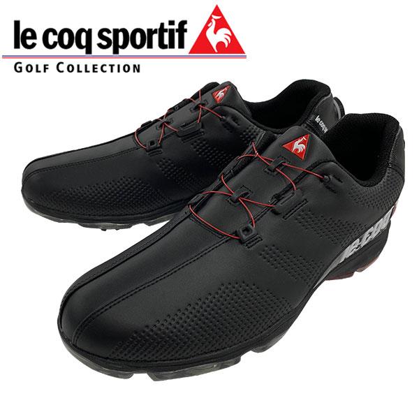 2019年 ルコック スポルティフ ソフトスパイク ゴルフ シューズ ヒールダイヤル式 QQ2NJA02 日本正規品 ブラック