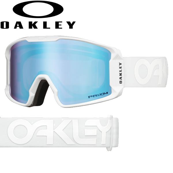 (10月初旬以降発送予定) オークリー OAKLEY スノー ゴーグル ラインマイナー XM OO7093-13 スタンダードフィット プリズム スノー サファイア イリジウム ファクトリーパイロット ホワイトアウト LINE MINER XM USAモデル